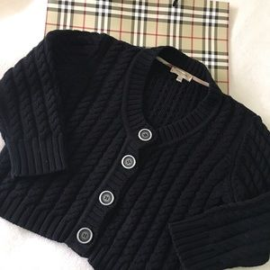 Authentic Burberry cable knit cropped cardigan M